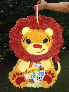 Lion Pinata.  Jungle Theme Pinata.  King of the Jungle.  Customizable Pinata. $52.00, via Etsy.