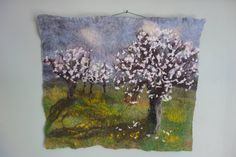 A personal favourite from my Etsy shop https://www.etsy.com/uk/listing/526226451/felt-picture-of-pear-trees-in-blossom