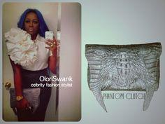 OloriSwank: Celebrity Fashion Stylist knows how to rock her JanelleFord Phantom Clutch. www.janelleford.com