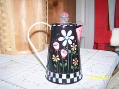 Old coffee pot, paintedby Bonnie