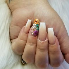 33 Super Fabulous Nail Art Designs with Dried Flower – – Nails Archive Nail Art Designs, Flower Nail Designs, Flower Nail Art, Acrylic Nail Designs, Acrylic Nails, Nails Design, Fabulous Nails, Perfect Nails, Ongles Stiletto Mat