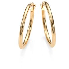 Roberto Coin 18K Yellow Gold Oval Hoop Earrings/1 ($440) ❤ liked on Polyvore featuring jewelry, earrings, gold, hoop earrings, 18k gold jewelry, oval earrings, roberto coin earrings and gold jewellery