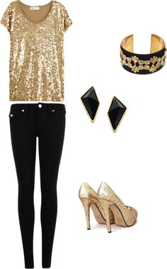"""Office Christmas Party"" by bcsmith on Polyvore. THERE IS LEGITIMATELY NOTHING I LOVE MORE THAN THIS OUTFIT."