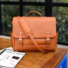 Gaston Messenger Bag - Full Grain Vachetta Leather - Tan – Beckett Simonon Mens Luggage, Men's Backpacks, Recognition Awards, Gold Rate, Cyber Monday Deals, Messenger Bag Men, Gaston, Beautiful Bags, Leather Working