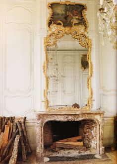 Only Glamour - gold ornate mirror