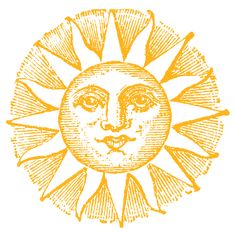 Vintage Clip Art - Old Fashioned Sun with Face - The Graphics Fairy Sun Drawing, Gold Wall Art, Gold Wall Clock, Orange Moon, Sun Art, Sun Clip Art, Moon Shirt, Sun Tattoos, Moon Design