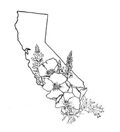 California for my birth and where I met my husband. Put some evergreens in there and it would be great!