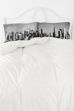 NYC Skyline Pillowcase - Set Of 2  #UrbanOutfitters