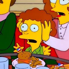 "The simpsons """"Ow! My freakin' ears!"" from 'Bart's Sells His Soul'. Season 7, Episode 4."""