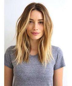 Cortes de pelo para cara ovalada: fotos de los looks - Rostro ovalado sin flequillo