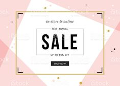 Sale sign design in contemporary style. Promotional Banners, Promotional Design, Ad Design, Sign Design, Type Design, Banner Design Inspiration, Newsletter Design, Social Media Banner, For Sale Sign