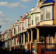 The Painted Ladies of Charles Village, Baltimore City, MD Baltimore City, Baltimore Maryland, Annapolis Maryland, The Places Youll Go, Places To See, Just Dream, Ocean City, Woman Painting, Historic Homes