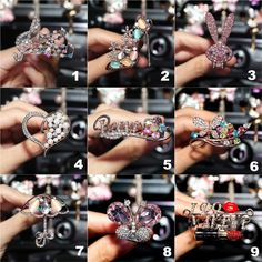 Crystal Rhinestone Car Air Vent Bling Decoration Accessories - Carsoda