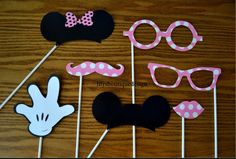 Mickey & Minnie Mouse Photo Booth Props