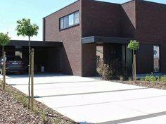 Garden Design, House Design, Garden Paving, Small Modern Home, Concrete Driveways, Backyard, Patio, Outdoor Flooring, Exterior Design