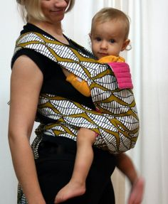 double-sided mei tai w/african fabric