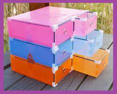 Resultado de imagem para organizadores com caixa de sapato