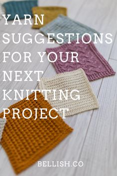 Versatile and budget-friendly yarns  for your next knitting project. Knitting Squares, Dishcloth Knitting Patterns, Crochet Dishcloths, Knitting Stitches, Knitting Yarn, Free Knitting, Knit Crochet, Crochet Patterns, Knitting Projects