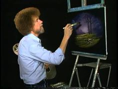 """Bob Ross and """"The Joy of Painting:"""" A thin paint will stick to a think p..."""