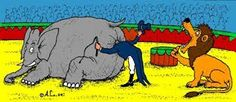 Image result for elephant circus cartoon