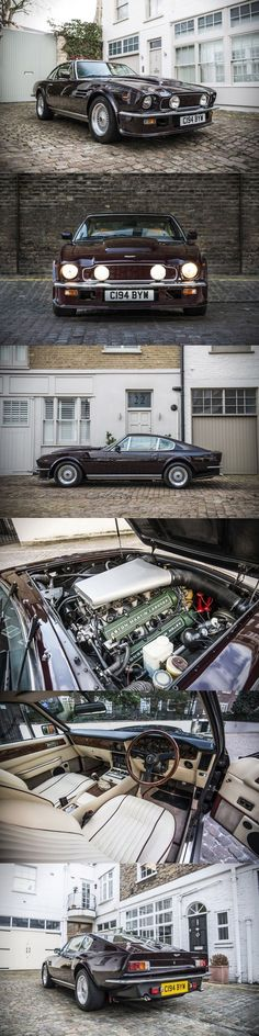 1985 Aston Martin V8 Vantage Elton John / Royal Cherry red / UK #astonmartinvintagecars