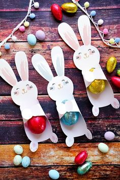 The cutest bunny cut outs in pink and blue to wrap their little paws around some chocolate deliciousness! These bunnies just add that extra touch of 'special' to your Easter treats. The file includes handcut and SVG files for Cricut - bunnies in pink and blue.