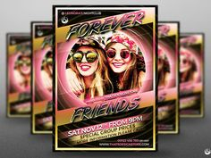 Forever Friends Flyer Template by Lionel Laboureur