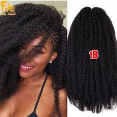 Afro Kinky Büküm Saç Tığ Örgüler 12 Renkler Ombre Marley Örgü Saç 18 inç Senegalese Kıvırcık Tığ Sentetik Örgü Saç