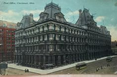 Vintage Post Card of the Post Office of Cincinnati, Ohio from the 1900's by LoveThisOldHouse on Etsy