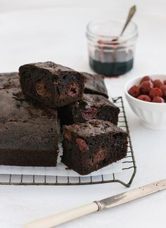 This quick-to-make moist, fudgy chocolate cherry cake is loaded with cherries and chocolate chips.