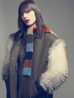 FAY for MARIE CLAIRE Italy - 2014. Women's Fall - Winter 2014/15 collection - Coat.