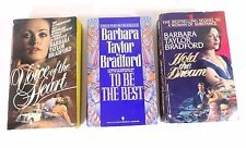 Lot (3) BARBARA TAYLOR BRADFORD: Hold the Dream; To Be the Best; Voice of Heart