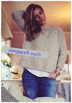 Simppeli Suri - Kalastajan vaimo - ME NAISET Cast On Knitting, Knitting Sweaters, Fingerless Mittens, Drops Design, My Wardrobe, Passion For Fashion, Knitwear, Knit Crochet, Cool Outfits