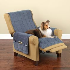 Non-Slip Furniture Protecting Pet Covers // Hammacher Schlemmer Furniture Covers, Pet Furniture, New Kitchen Gadgets, Dog Gadgets, Home Tech, Animal Projects, Pet Accessories, Home And Living, Recliner