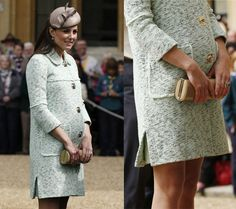 Mulberry dress worn by Kate Middleton http://www.leichic.it/donna-vip/kate-middleton-incinta-mostra-finalmente-il-pancione-il-suo-look-firmato-mulberry-34158.html