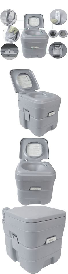 Portable Toilets and Accessories 181397: 5 Gallon Portable Toilet Flush Travel Outdoor Camping Hiking Toilet Potty -> BUY IT NOW ONLY: $67.94 on eBay!