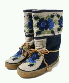 Inuit made boots