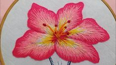 Bead Embroidery Tutorial, Hand Embroidery Patterns Flowers, Basic Embroidery Stitches, Hand Embroidery Videos, Embroidery Motifs, Creative Embroidery, Learn Embroidery, Hand Embroidery Designs, Embroidery Techniques