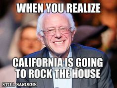 California will decide if it's going to be President Sanders or President Trump...choose wisely California, a vote for Hillary is a vote for Trump!