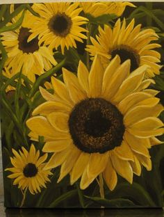 Sunflowers painted by me.....
