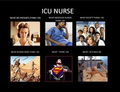 This is one of the few ICU memes that I actually like all the descriptions. LOVE MY ICU NURSES!!!!!