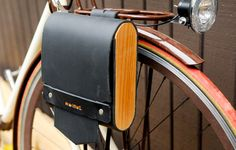 Large Pocket Pannier with Cedar :: Walnut Studiolo Portland, OR