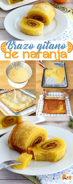 Orange swiss roll from portugal - torta de laranja, Recipe Petitchef Food Wishes, Good Food, Yummy Food, Portuguese Recipes, Sweet Recipes, Cupcake Cakes, Dessert Recipes, Food And Drink, Snacks