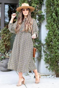 Shop the new Eliza Floral Midi Dress! : Shop the new Eliza Floral Midi Dress! Modest Dresses, Modest Outfits, Skirt Outfits, Modest Fashion, Cute Dresses, Modest Clothing, Fashion Outfits, Fashion Clothes, Modest Wear