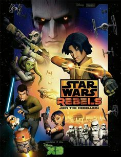 """TV SERIES - Star Wars Rebels """"2014-"""" (Genre: Action/Adventure/Sci-Fi) Starring: Vanessa Marshall as Hera Syndulla, Freddie Prinze Jr. as Kanan Jarrus, Steve Blum as Zeb Orrelios, Taylor Gray as Ezra Bridger, Tiya Sircar as Sabine Wren, Jason Isaacs as The Inquisitor & David Oyelowo as Agent Kallus. Plot: A brave and clever ragtag starship crew stands up against the evil Empire as it tightens its grip on the galaxy and hunts down the last of the Jedi Knights."""