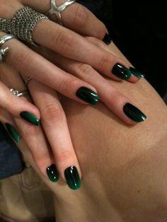 // #DIY #Emerald #Green #Ombre #Nails //