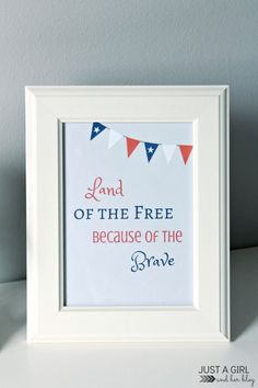 Patriotic 4th of July Printables ~ Free! - Mom 4 Real