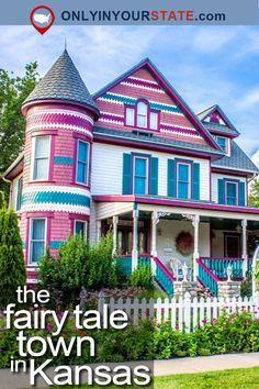 Travel Kansas Fairy Tale Small Town Architecture Colorful Sight Seeing Topeka Kansas, Kansas Missouri, Kansas Usa, State Of Kansas, Abilene Kansas, Salina Kansas, Missouri Camping, Lindsborg Ks, Lindsborg Kansas