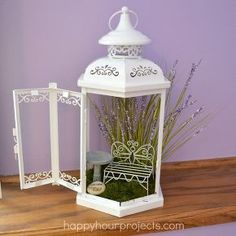 lantern turned fairy garden, crafts, gardening, repurposing upcycling, A repurposed lantern is a great place for fairies to stay while on fairy business