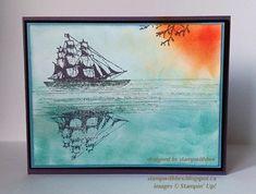 Stamps: Open sea, serene silhouettes, gorgeous grunge Paper: perfect plum, basic black, marina mist, whisper white Ink: perfect plum, coas...